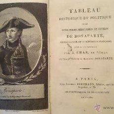 Libros antiguos: TABLEAU HISTORIQUE ET POLITIQUE DES OPERATIONS... DE BONAPARTE - J. CHAS - PARIS BERTRAND 1801 . Lote 49840630