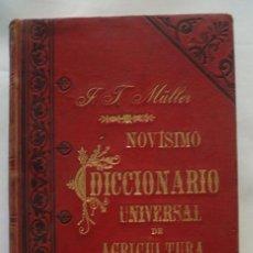 Libros antiguos - MULLER,J.T.,, NOVISIMO DICCIONARIO UNIVERSAL DE AGRICULTURA. 3 Tomos completa - 49880787