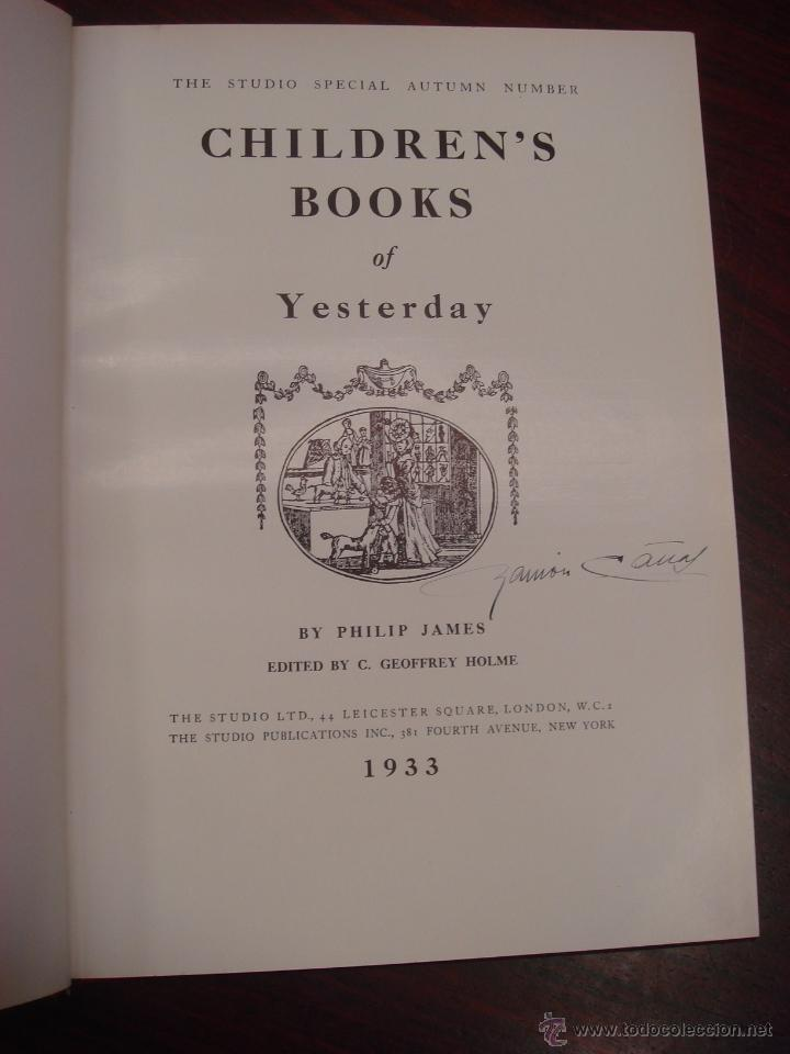 Libros antiguos: CHILDREN´S BOOKS YESTERDAY. 1933. THE STUDIO SPECIAL AUTUMN NUMBER. Encuadernado. - Foto 4 - 32209455