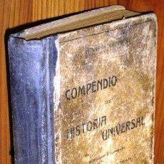 Libros antiguos: COMPENDIO DE HISTORIA UNIVERSAL POR ALFONSO MORENO ESPINOSA DE ED. ATLANTE EN BARCELONA S/F (1901). Lote 49909989
