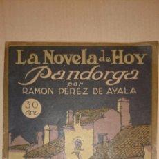 Libros antiguos: RAMON PEREZ DE AYALA - PANDORGA - LA NOVELA DE HOY Nº 3, 1922 - ILUSTRACIONES DE MAXIMO RAMOS. Lote 196545910