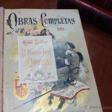 Libros antiguos: MANUEL JOSEF QUINTANA, 3 TOMOS OBRAS COMPLETAS 1897. Lote 49955020