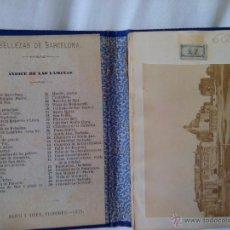 Libros antiguos: 1875 50 ALBUMINAS BELLEZAS DE BARCELONA MARAVILLOSO Y RARISIMO ALBUM EN COMERCIO. Lote 49974629