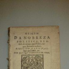 Libros antiguos: 1631 - ORÍGEN DE LA NOBLEZA, BLASONES, ETC. OBRA INDISPENSABLE. 1ª EDICIÓN. Lote 49994073