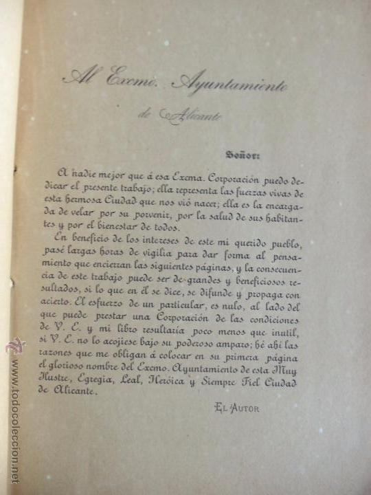 Libros antiguos: RESIDENCIA INVERNAL DE ALICANTE - DON ESTEBAN SÁNCHEZ SANTANA - 1889 - Foto 2 - 164790681