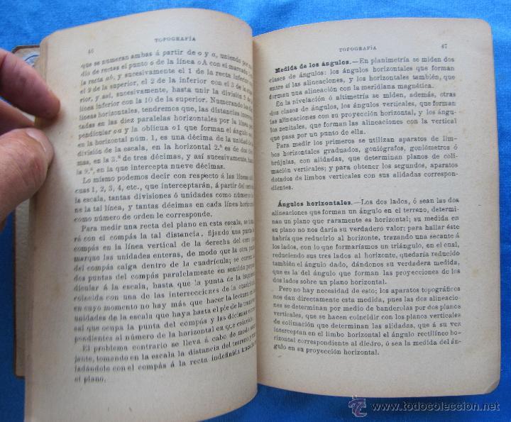 Libros antiguos: MANUAL ELEMENTAL DE TOPOGRAFÍA PRÁCTICA. POR BARTOLOMÉ CERRO Y ACUÑA. P. ORRIER EDITOR, MADRID, 1914 - Foto 3 - 50051679