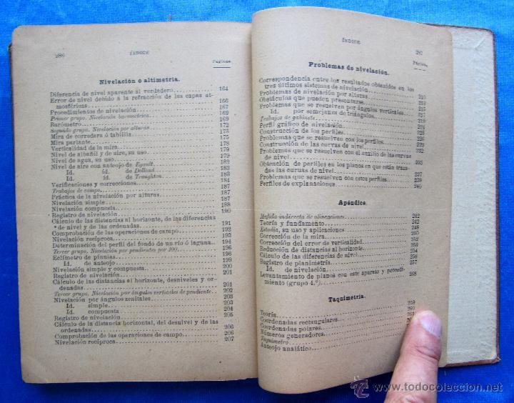 Libros antiguos: MANUAL ELEMENTAL DE TOPOGRAFÍA PRÁCTICA. POR BARTOLOMÉ CERRO Y ACUÑA. P. ORRIER EDITOR, MADRID, 1914 - Foto 5 - 50051679