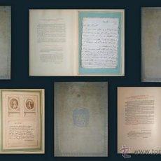 Libros antiguos: QUELQUES RELIQUES EMOUVANTES... 3 VOL. REPROD. DE AUTÓGRAFOS DE JUANA DE ARCO, NAPOLEÓN, ETC. Lote 50065491