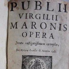 Libros antiguos: PUBLII VIRGILII MARONIS OPERA - AÑO 1771. Lote 50081628
