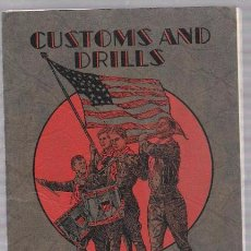 Libros antiguos: A MANUAL OF CUSTOMS AND DRILLS FOR BOY SCOUTS. PUBLISHED BY BOY SCOUTS OF AMERICA. Nº 3274. 1929. Lote 50087282