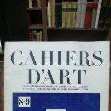 Libros antiguos: CAHIERS D'ART. 1930. NÚM. 8-9. ESPECIAL ARTE AFRICANO.. Lote 50092432
