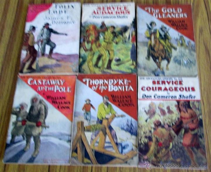 6 LIBROS COLECCIÓN -- THE ADVENTURE LIBRARY SERVICE COURAGEOUS POR DON CAMERON SHAFER Nº 172 – 1912 (Libros Antiguos, Raros y Curiosos - Otros Idiomas)