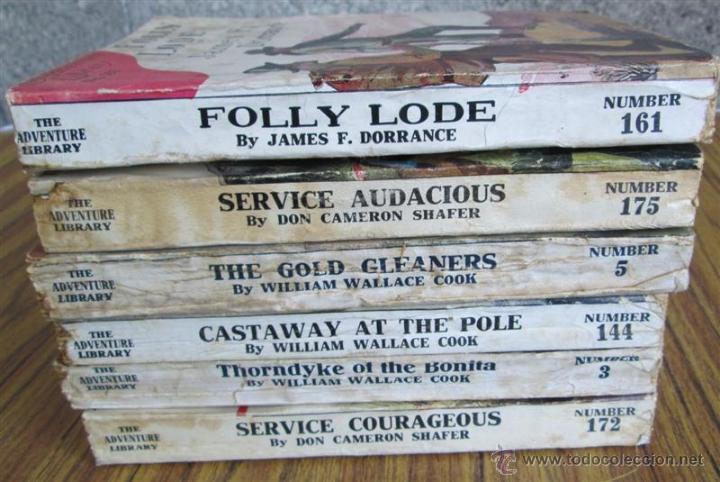 Libros antiguos: 6 libros colección -- The adventure library SERVICE COURAGEOUS por Don Cameron Shafer nº 172 – 1912 - Foto 9 - 50096109