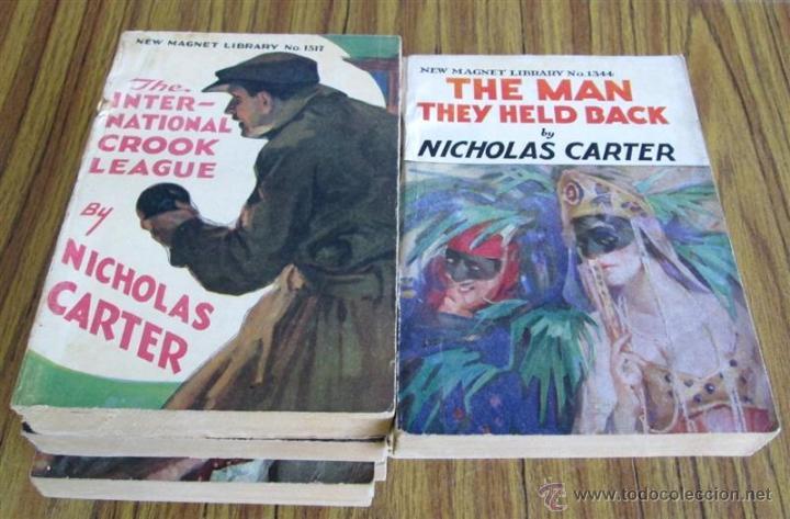 10 LIBROS COLECCIÓN - NEW MAGNET LIBRARY POR NICHOLAS CARTER THE MAN THEY HALD BACK Nº 1344 – 1915 (Libros Antiguos, Raros y Curiosos - Otros Idiomas)