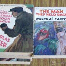 Libros antiguos: 10 LIBROS COLECCIÓN - NEW MAGNET LIBRARY POR NICHOLAS CARTER THE MAN THEY HALD BACK Nº 1344 – 1915. Lote 50096176