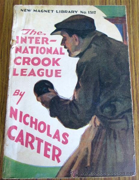 Libros antiguos: 10 libros colección - New magnet library Por Nicholas Carter THE MAN THEY HALD BACK nº 1344 – 1915 - Foto 7 - 50096176