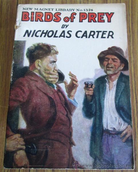 Libros antiguos: 10 libros colección - New magnet library Por Nicholas Carter THE MAN THEY HALD BACK nº 1344 – 1915 - Foto 8 - 50096176