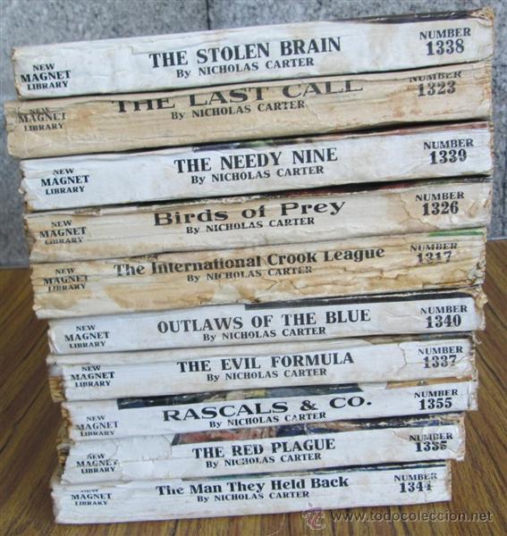 Libros antiguos: 10 libros colección - New magnet library Por Nicholas Carter THE MAN THEY HALD BACK nº 1344 – 1915 - Foto 12 - 50096176