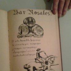 Libros antiguos: VINOS ... ALBUM FIRMAS, POESÍAS, DIBUJOS ... ORIGINALES - RESTAURANTES BARES BARCELONA. Lote 50128293