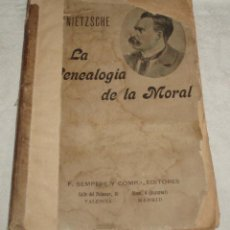 Libros antiguos: LA GENEALOGIA DE LA MORAL DE FEDERICO NIETZSCHE TRADUCCION DE PEDRO GONZALEZ BLANCO MUY ANTIGUO. Lote 50176565