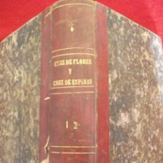 Libros antiguos: CRUZ DE FLORES Y CRUZ DE ESPINAS POR ANTONIO DE PADUA SIGLO XIX - 2 TOMOS EN UN VOLUMEN. Lote 50216605
