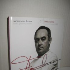 Libros antiguos: COCINA CON FIRMA Nº 1 FERRAN ADRIÁ, EL PAIS 2008. Lote 50267473