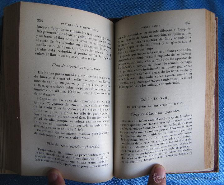 Libros antiguos: PASTELERÍA Y REPOSTERÍA FRANCESA Y ESPAÑOLA. POR P. R. MACOSTA. CASA EDITORIAL GARNIER, PARÍS, S/F. - Foto 6 - 50291376