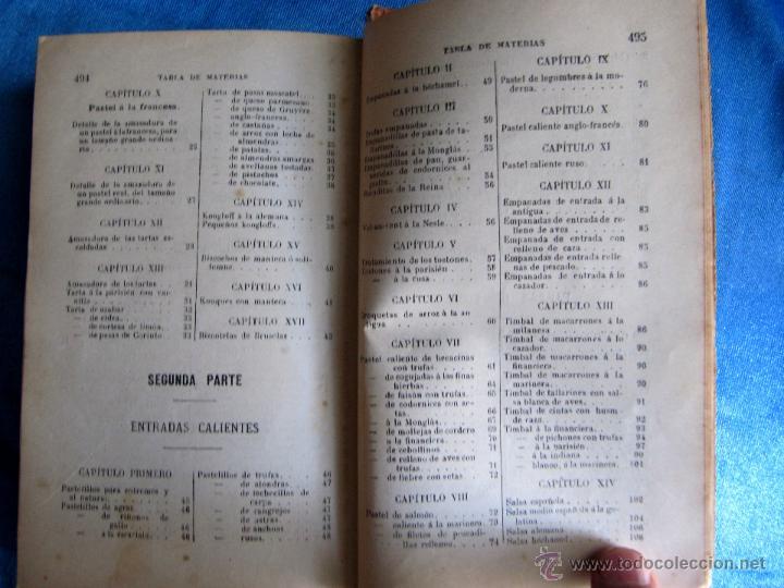 Libros antiguos: PASTELERÍA Y REPOSTERÍA FRANCESA Y ESPAÑOLA. POR P. R. MACOSTA. CASA EDITORIAL GARNIER, PARÍS, S/F. - Foto 8 - 50291376