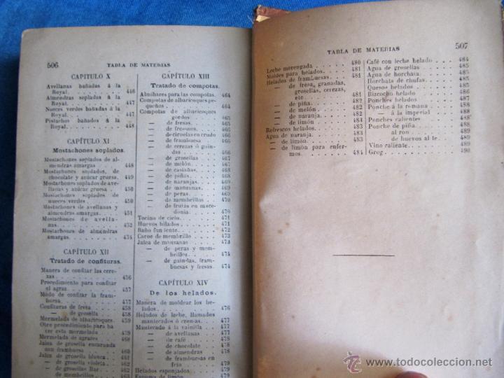 Libros antiguos: PASTELERÍA Y REPOSTERÍA FRANCESA Y ESPAÑOLA. POR P. R. MACOSTA. CASA EDITORIAL GARNIER, PARÍS, S/F. - Foto 9 - 50291376