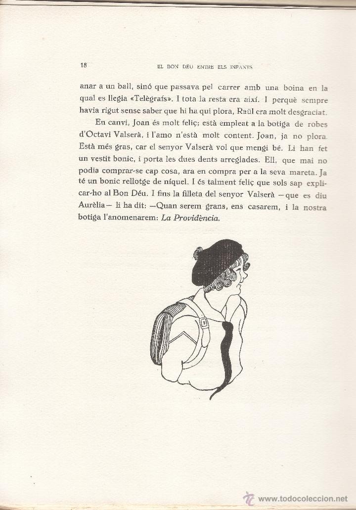 Libros antiguos: EL BON DÉU ENTRE ELS INFANTS - FRANCIS JAMMES - F. CAMPS CALMET - TÁRREGA 1936 - EN CATALÁN. - Foto 4 - 50307904