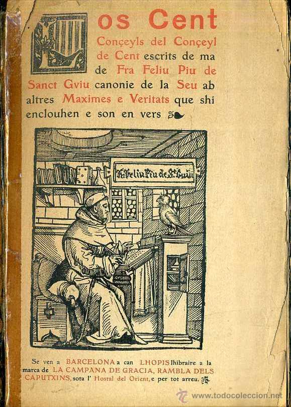 LOS CENT CONÇEYLS DEL CONÇEYL DE CENT (1908) (Libros Antiguos, Raros y Curiosos - Historia - Otros)