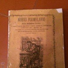 Libros antiguos: ANTIGUO LIBRO NUEVO FORMULARIO PARA ESCRIVIR CARTAS AÑOS 20 . Lote 50363299