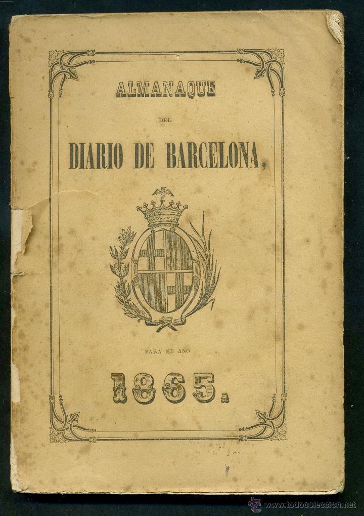 ALMANAQUE DEL DIARIO DE BARCELONA 1865 (Libros Antiguos, Raros y Curiosos - Historia - Otros)