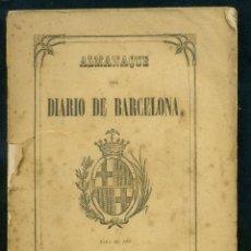Libros antiguos: ALMANAQUE DEL DIARIO DE BARCELONA 1865. Lote 183608692
