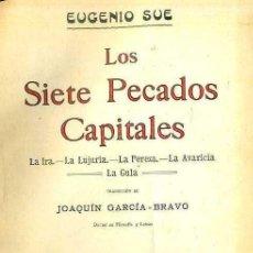 Libros antiguos: EUGENIO SUE : LOS SIETE PECADOS CAPITALES (LUIS TASSO, C. 1900) DOS TOMOS. Lote 50408744