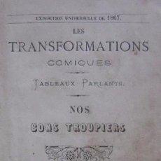 Libros antiguos: LES TRANFORMATIONS COMIQUES - AÑO 1867. Lote 50412294