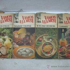 Libros antiguos: EDITORIAL BRUGUERA - LOTE DE CUATRO LIBROS DE COCINA COLECCIÓN VAMOS A LA MESA. Lote 50419703
