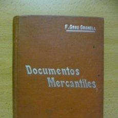 Libros antiguos: DOCUMENTOS MERCANTILES. FRANCISCO GRAU GRANELL. MANUALES SOLER. Lote 50431679