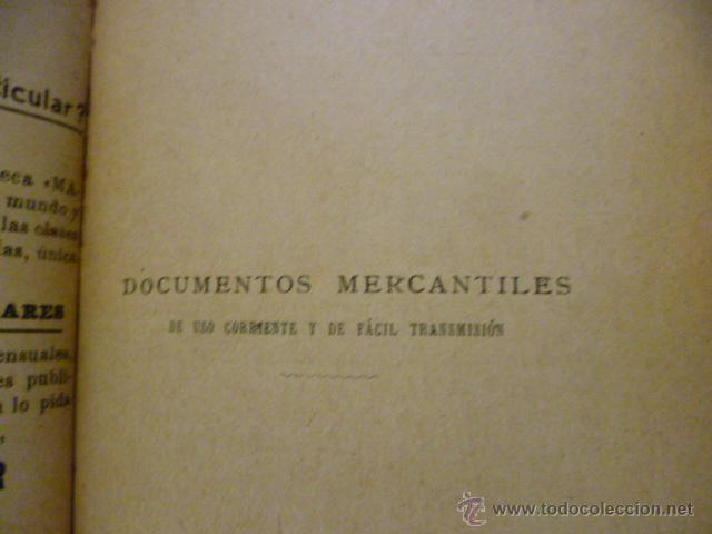 Libros antiguos: DOCUMENTOS MERCANTILES. FRANCISCO GRAU GRANELL. MANUALES SOLER - Foto 4 - 50431679