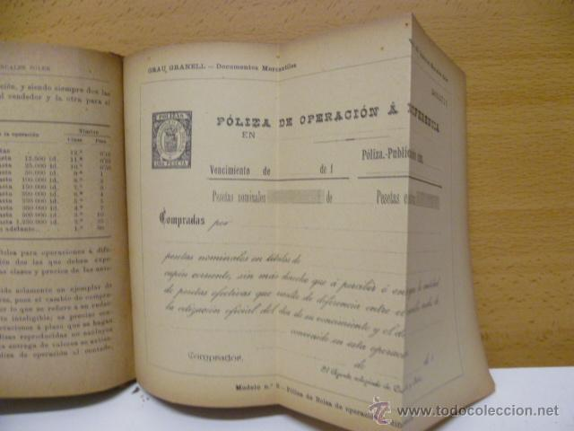 Libros antiguos: DOCUMENTOS MERCANTILES. FRANCISCO GRAU GRANELL. MANUALES SOLER - Foto 9 - 50431679