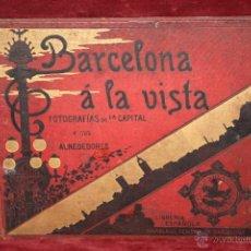Libros antiguos: BARCELONA Á LA VISTA. ALBUM DE FOTOGRAFÍAS DE LA CAPITAL Y SUS ALREDEDORES. 192 VISTAS. FOTOGRAFÍAS. Lote 286773728