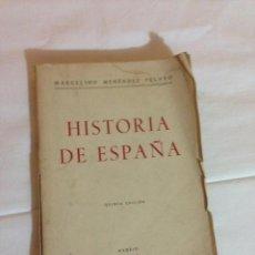 Libros antiguos: MARCELINO MENENDEZ Y PELAYO 1946 HISTORIA DE ESPAÑA .. Lote 50473292