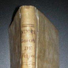 Libros antiguos: SANTOS, JOSEPH: INDICE GENERAL ALFABETICO ... OBRAS DE FR. BENITO GERONIMO FEIJOO. 1773. PERGAMINO. Lote 50482141