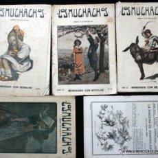 Libros antiguos: LOS MUCHACHOS - SEMANARIO - 1915-1916 LOTE 5 NÚMEROS. Lote 50507083