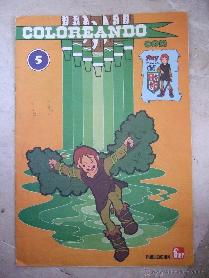 RUY EL PEQUEÑO CID - LIBRO PARA COLOREAR - FHER - 1980 - 8 PAGINAS (Libros Antiguos, Raros y Curiosos - Literatura Infantil y Juvenil - Otros)