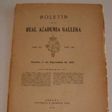 Libros antiguos: VV.AA. BOLETÍN DE LA REAL ACADEMIA GALLEGA. AÑO XXI. NÚM. 186. 1º DE SEPTIEMBRE DE 1926. RM70429.. Lote 50581907