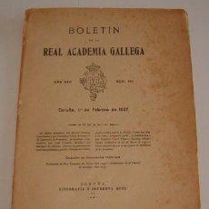Libros antiguos: VV.AA. BOLETÍN DE LA REAL ACADEMIA GALLEGA. AÑO XXII. NÚM. 191. 1º DE FEBRERO DE 1927. RM70430.. Lote 50581943