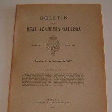 Libros antiguos: VV.AA. BOLETÍN DE LA REAL ACADEMIA GALLEGA. AÑO XXII. NÚM. 197. 1º DE OCTUBRE DE 1927. RM70431. . Lote 50582024