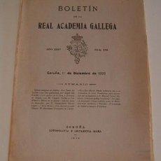 Libros antiguos: VV.AA. BOLETÍN DE LA REAL ACADEMIA GALLEGA. AÑO XXIV. NÚM. 220. 1º DE DICIEMBRE DE 1929. RM70432.. Lote 50582039