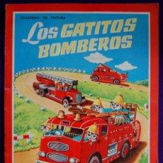 Libros antiguos: CUADERNO DE PINTURA. LOS GATITOS BOMBEROS. SIN USAR. COLECCION REINA. Nº3. AÑO 1960. Lote 50582648